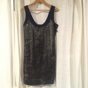 French Connection UK sequin dress in Navy